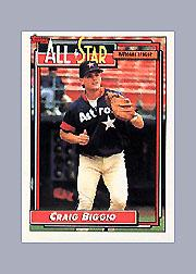 1992 Topps Micro #393 Craig Biggio AS