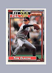1992 Topps Micro #395 Tom Glavine AS