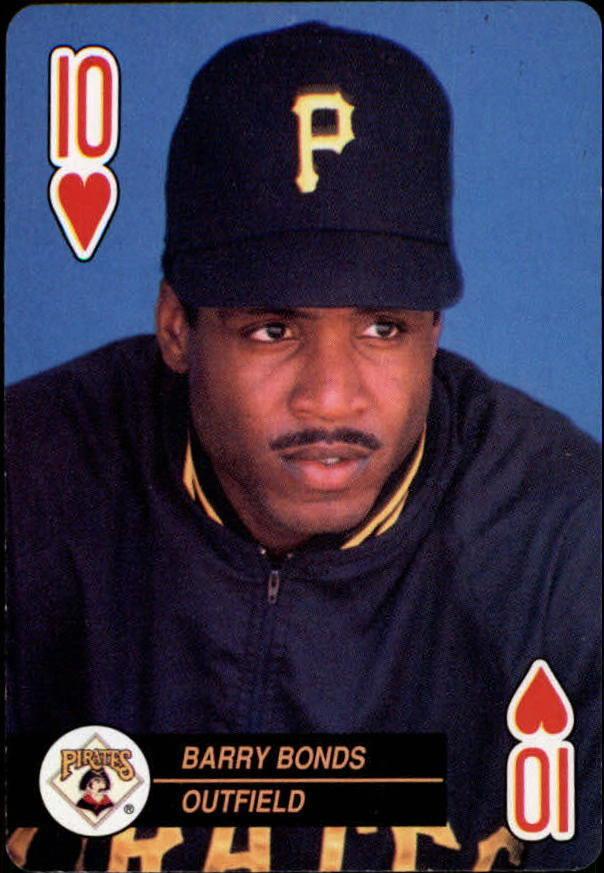 1992 U.S. Playing Cards All-Stars #10H Barry Bonds
