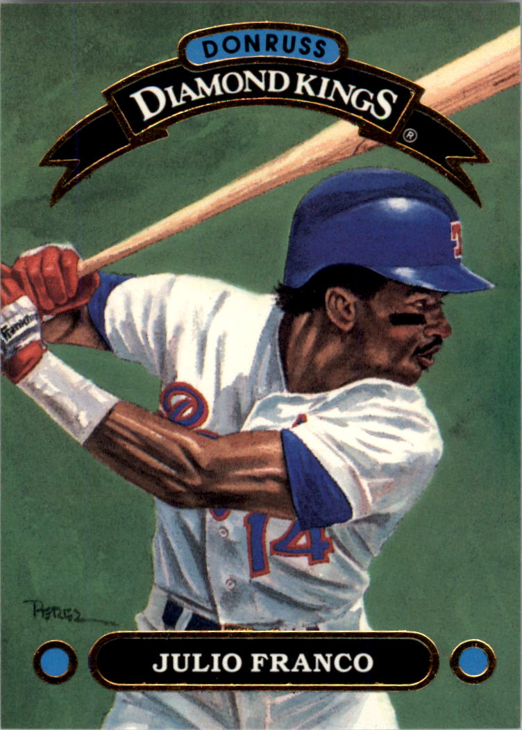1992 Donruss Diamond Kings #DK4 Julio Franco