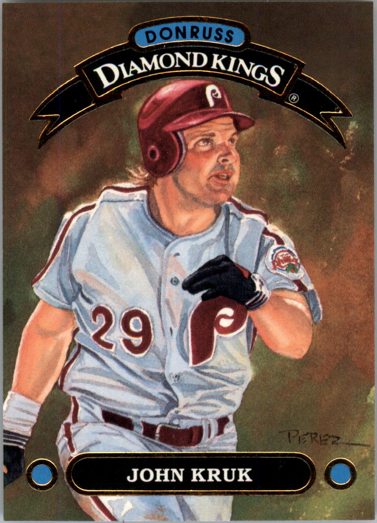 1992 Donruss Diamond Kings #DK12 John Kruk