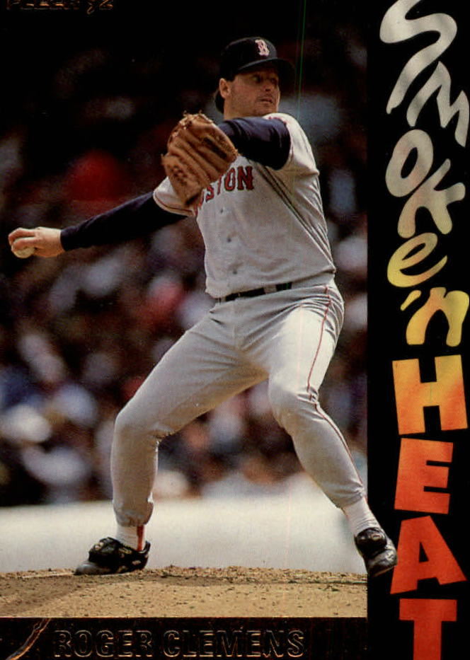 1992 Fleer Smoke 'n Heat #S4 Roger Clemens
