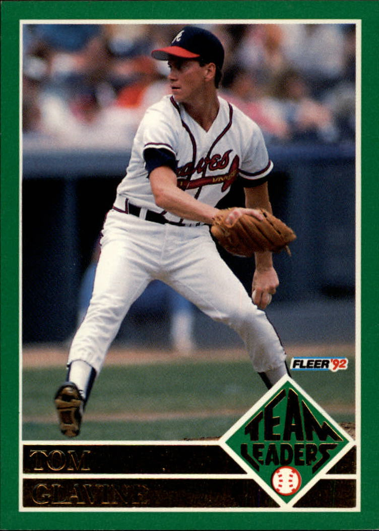 1992 Fleer Team Leaders #11 Tom Glavine