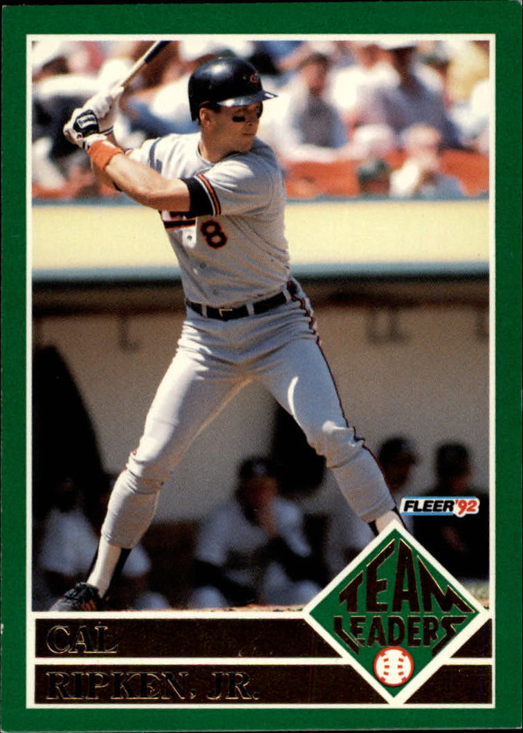 1992 Fleer Team Leaders #17 Cal Ripken