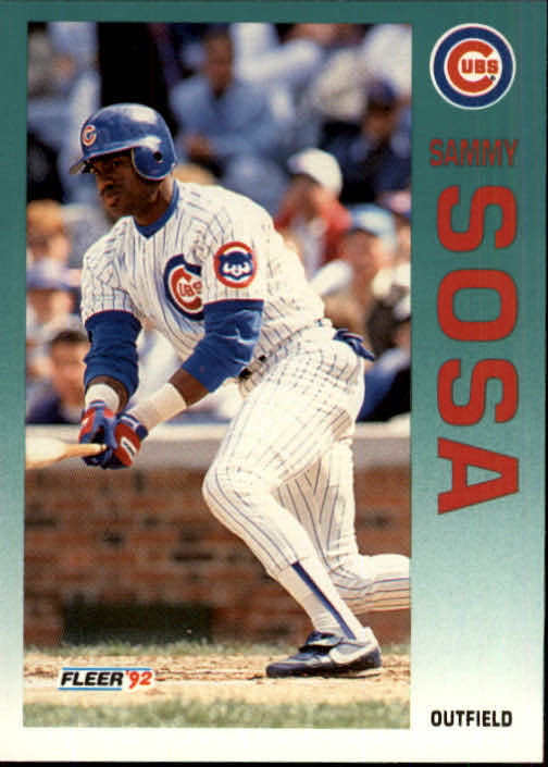 1992 Fleer Update #77 Sammy Sosa Cubs