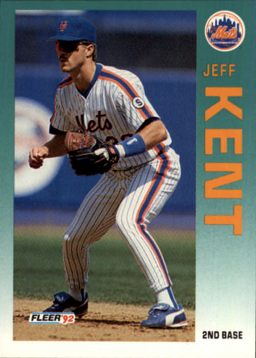1992 Fleer Update #104 Jeff Kent RC