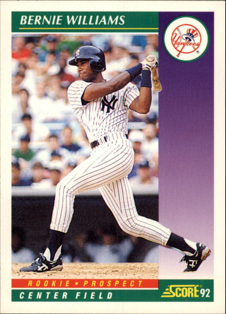 1992 Score #401 Bernie Williams