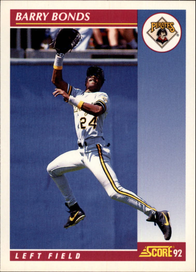 1992 Score #555 Barry Bonds
