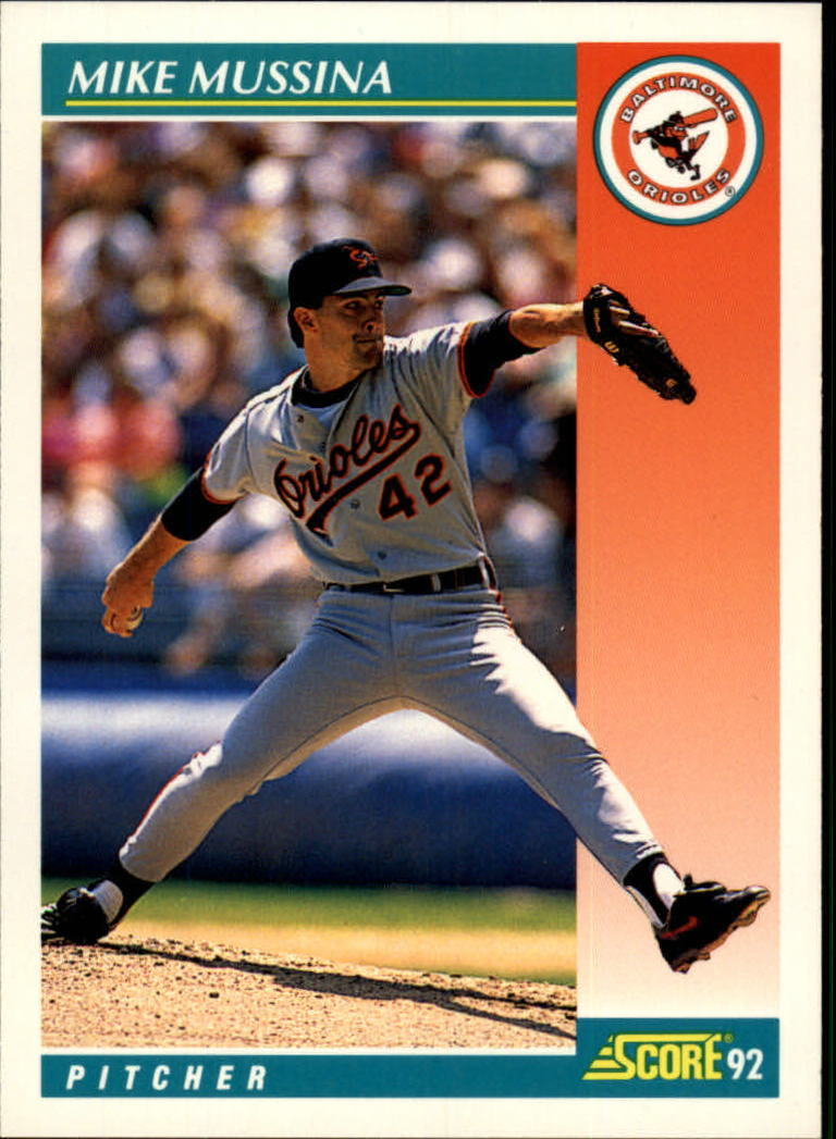 1992 Score #755 Mike Mussina