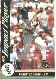 1992 Score Impact Players #43 Frank Thomas