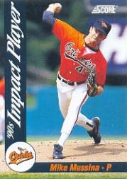 1992 Score Impact Players #48 Mike Mussina