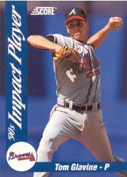 1992 Score Impact Players #49 Tom Glavine