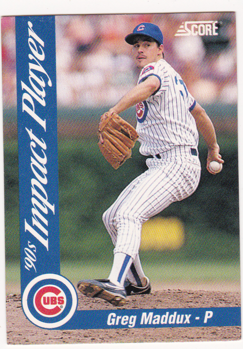 1992 Score Impact Players #77 Greg Maddux