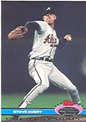 1992 Stadium Club Dome #9 Steve Avery NLCS