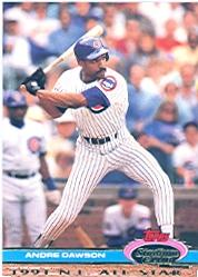 1992 Stadium Club Dome #33 Andre Dawson front image