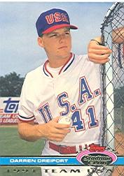 1992 Stadium Club Dome #39 Darren Dreifort USA