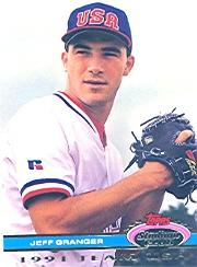 1992 Stadium Club Dome #64 Jeff Granger USA
