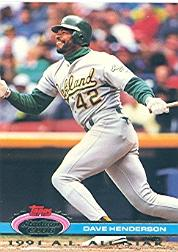 1992 Stadium Club Dome #82 Dave Henderson
