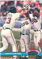 1992 Stadium Club Dome #97 David Justice WS