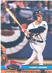 1992 Stadium Club Dome #105 Mark Lemke
