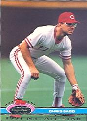 1992 Stadium Club Dome #160 Chris Sabo front image