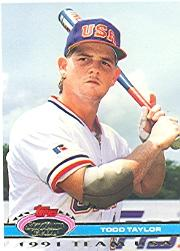 1992 Stadium Club Dome #185 Todd Taylor USA