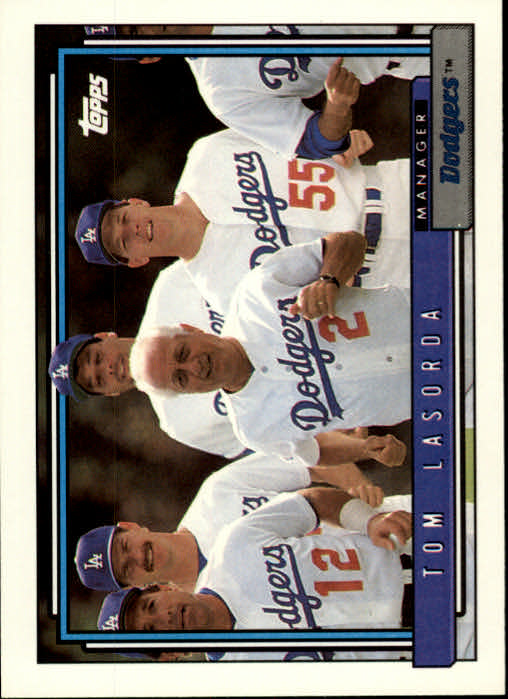 1992 Topps #261 Tom Lasorda MG