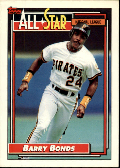 1992 Topps #390 Barry Bonds AS