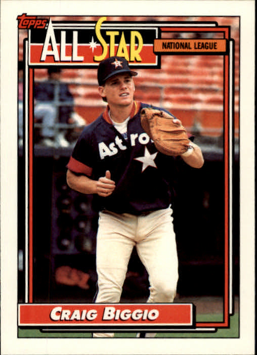 1992 Topps #393 Craig Biggio AS