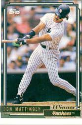 1992 Topps Gold Winners #300 Don Mattingly
