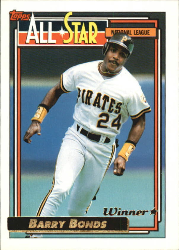 1992 Topps Gold Winners #390 Barry Bonds AS
