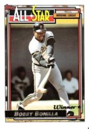 1992 Topps Gold Winners #392 Bobby Bonilla AS