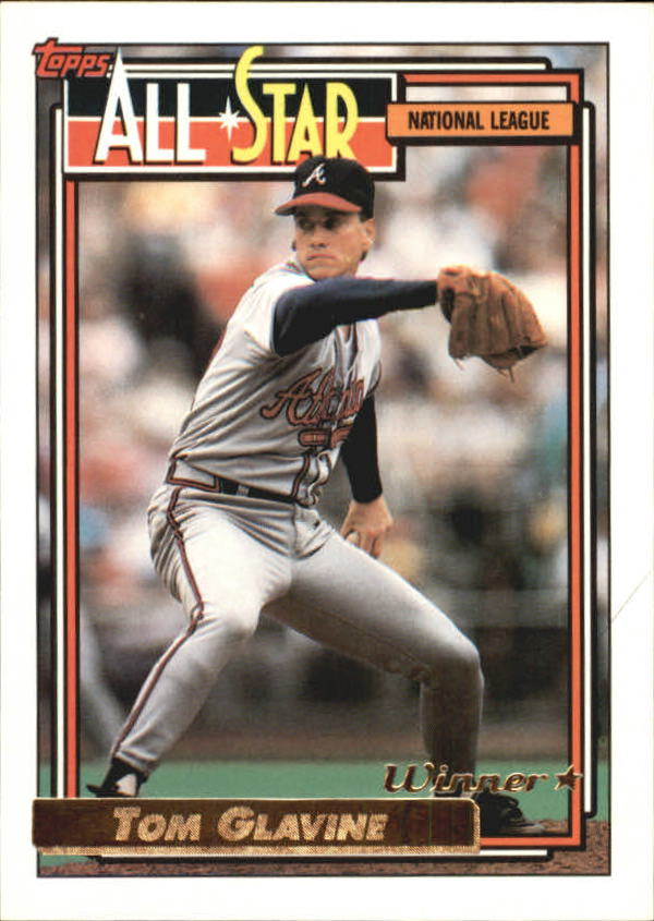 1992 Topps Gold Winners #395 Tom Glavine AS