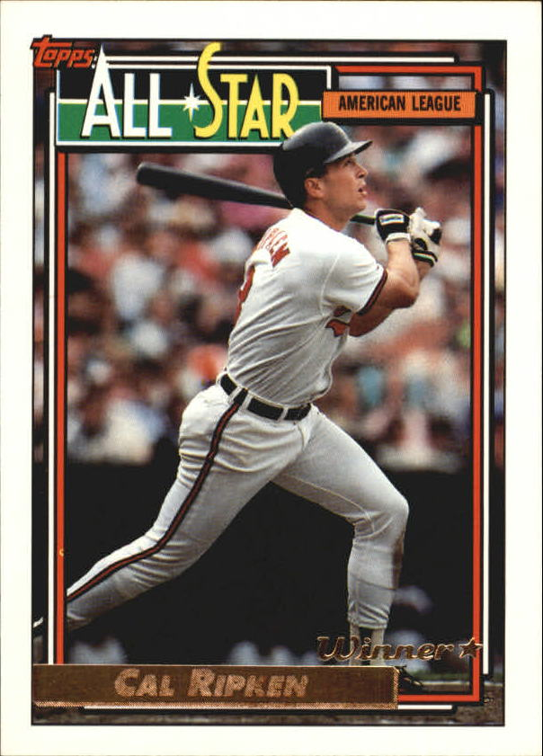 1992 Topps Gold Winners #400 Cal Ripken AS