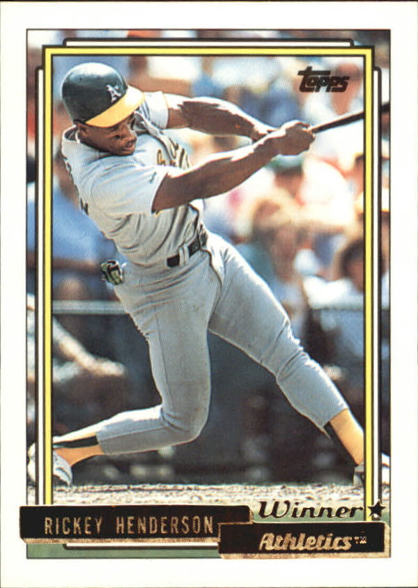 1992 Topps Gold Winners #560 Rickey Henderson
