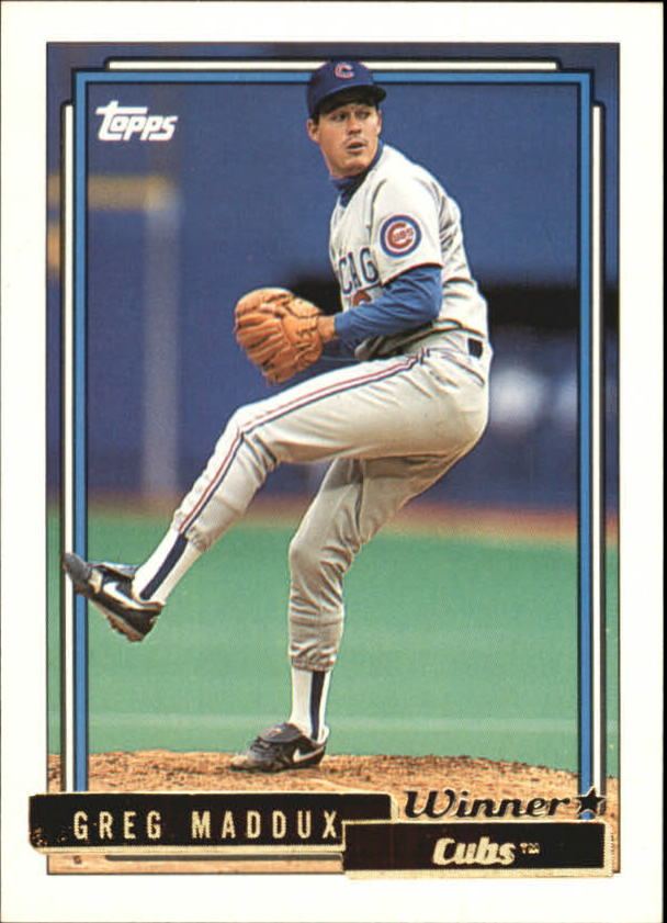 1992 Topps Gold Winners #580 Greg Maddux