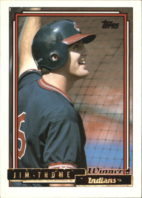 1992 Topps Gold Winners #768 Jim Thome