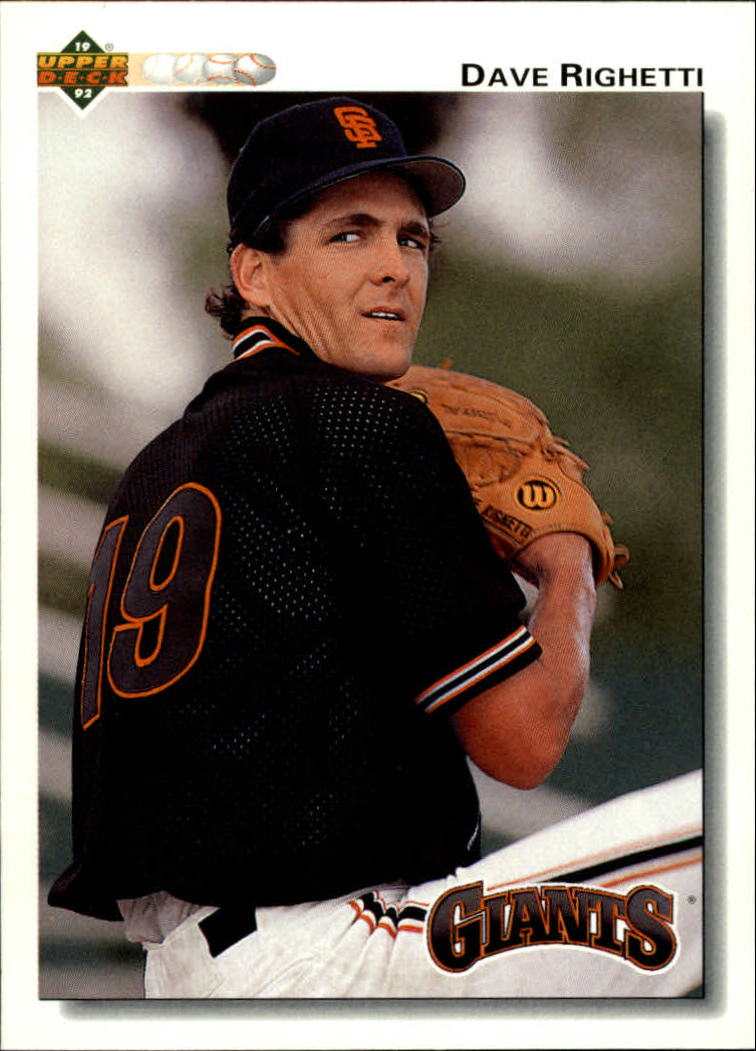 1992 Upper Deck #171 Dave Righetti