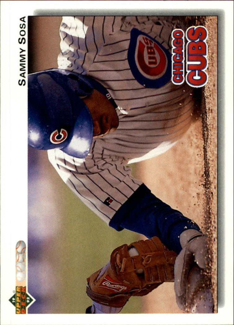 1992 Upper Deck #723 Sammy Sosa Cubs