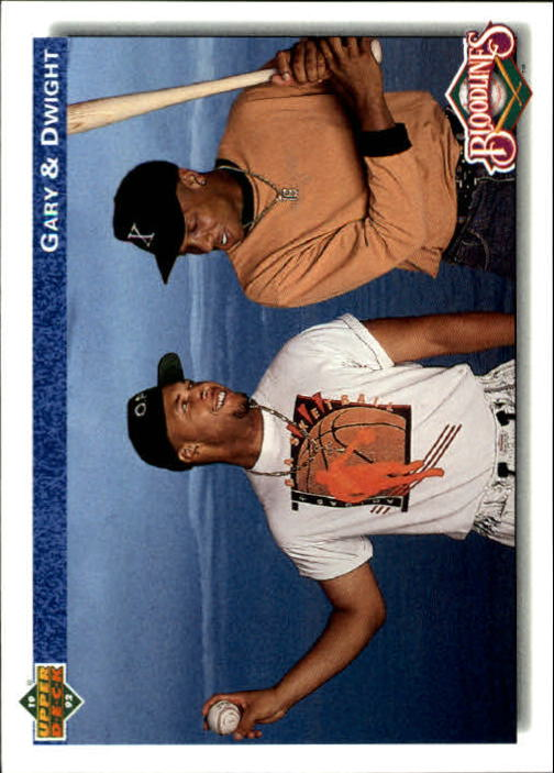 1992 Upper Deck Gold Hologram #84 Dwight Gooden/Gary Sheffield