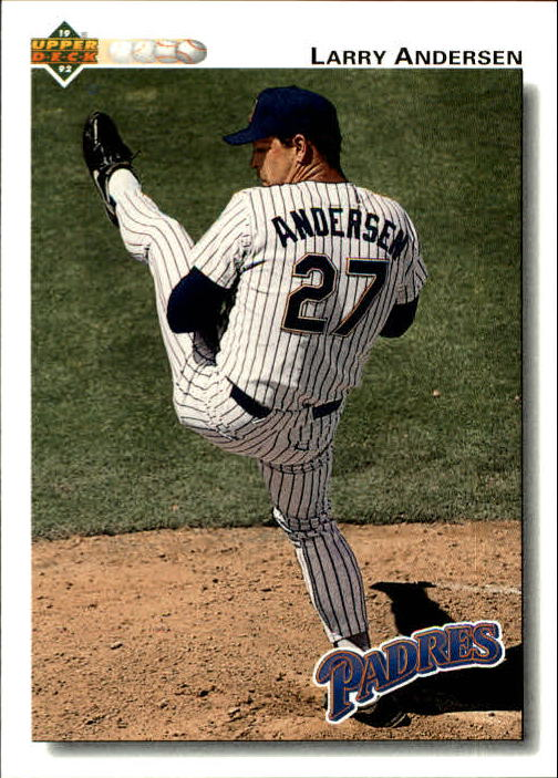 1992 Upper Deck Gold Hologram #587 Larry Andersen