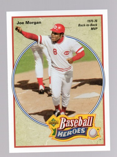 1992 Upper Deck Bench/Morgan Heroes #41 Joe Morgan