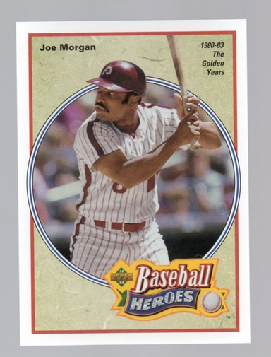 1992 Upper Deck Bench/Morgan Heroes #42 Joe Morgan