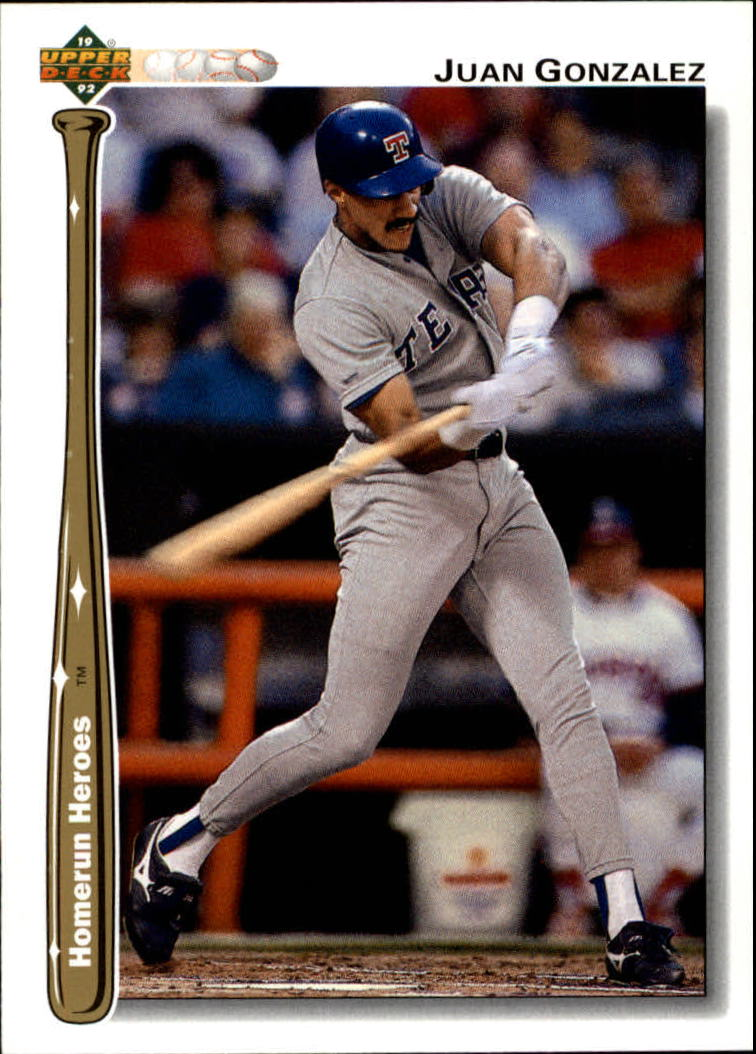 1992 Upper Deck Home Run Heroes #HR19 Juan Gonzalez