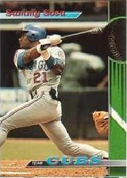 1993 Cubs Stadium Club #2 Sammy Sosa