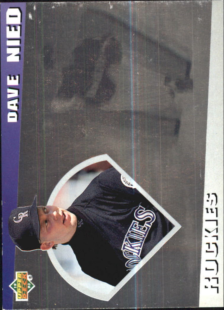1993 Upper Deck Diamond Gallery #23 David Nied