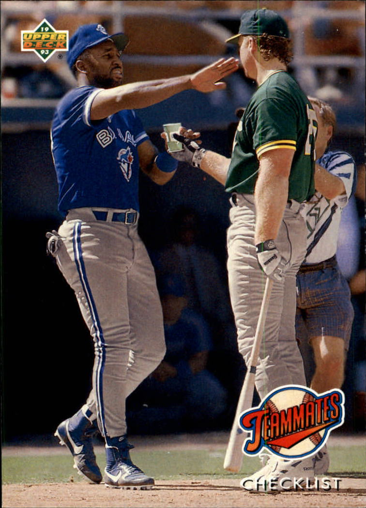 1993 Upper Deck #41 M.McGwire/J.Carter CL