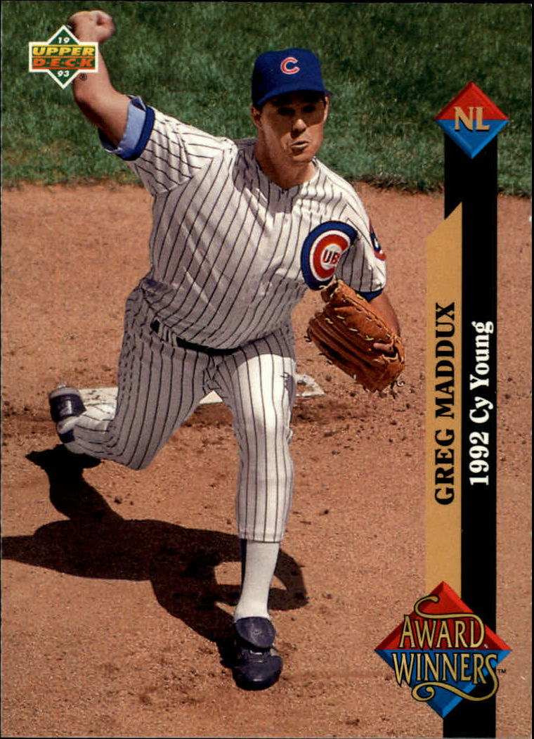 1993 Upper Deck #488 Greg Maddux AW