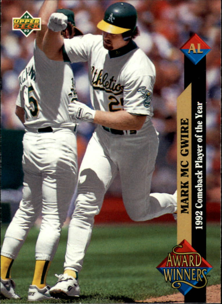 1993 Upper Deck #493 Mark McGwire AW