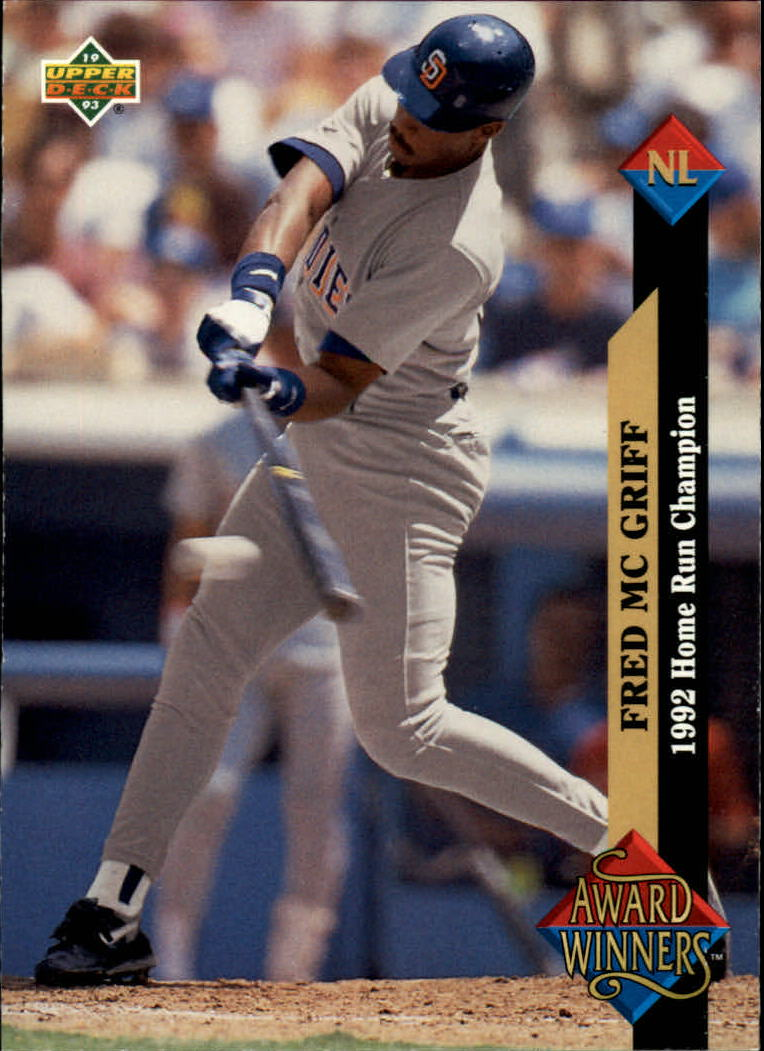 1993 Upper Deck #496 Fred McGriff AW